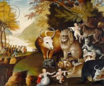 Edward Hicks - Peaceable Kingdom, c.1834