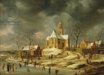 Jan Abrahamsz Beerstraten - The Village of Midlum