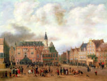 Gillis Rombouts - Announcement of the Peace of Breda in the Grote Markt, Haarlem, c.1667