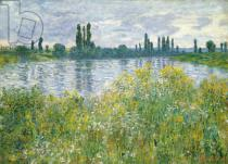 Claude Monet - Seineufer bei Vetheuil