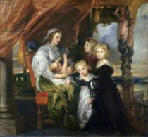 Peter Paul Rubens - Deborah Kip, Wife of Sir Balthasar Gerbier, and Her Children, c.1629-30