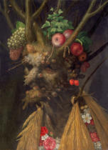 Giuseppe Arcimboldo - Four Seasons in the One Head, c.1590