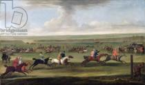 John Wootton - A race on the beacon course at Newmarket, c.1750