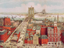 R. nach Schwarz - Brooklyn Bridge, c.1883