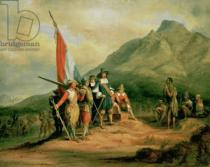Charles Bell - The Landing of Jan van Riebeeck (1619-77) 6th April 1652, 1850