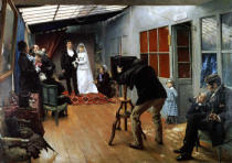 Pascal Adolphe Jean Dagnan-Bouveret - Wedding at the Photographer's, 1878-9