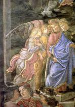 Sandro Botticelli - The Purification of the Leper and the Temptation of Christ, from the Sistine Chapel, 1481
