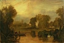 Joseph Mallord William Turner - Eton College from the River, or The Thames at Eton, c.1808