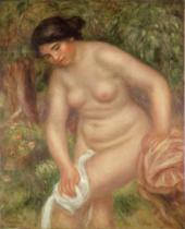Pierre Auguste Renoir - Bather drying herself, 1895