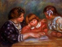Pierre Auguste Renoir - The Lesson, 1906