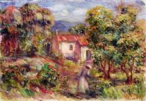 Pierre Auguste Renoir - Woman picking Flowers in the Garden of Les Colettes at Cagnes, 1912