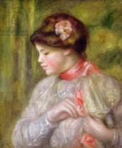 Pierre Auguste Renoir - Young woman adjusting her blouse, 1900