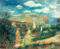 Pierre Auguste Renoir - The banks of the Seine at Argenteuil, 1880