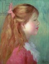 Pierre Auguste Renoir - Young girl with Long hair in profile, 1890