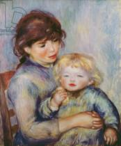 Pierre Auguste Renoir - Maternity, or Child with a biscuit, 1887