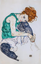 Egon Schiele - Seated Woman with Bent Knee, 1917
