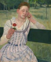 Mary Stevenson Cassatt - Woman with a Red Zinnia, 1891