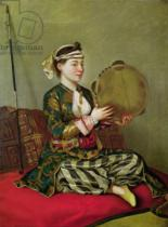 Jean-Etienne Liotard - Turkish Woman with a Tambourine