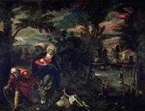 Jacopo Robusti Tintoretto - The Flight into Egypt, c.1575-77