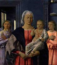 Piero della Francesca - Madonna of Senigallia with Child and Two Angels, c.1470