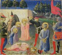 Fra Angelico - The Beheading of St. Cosmas and St. Damian, from the predella of the Annalena altarpiece, c.1434