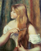 Pierre Auguste Renoir - Blonde girl combing her hair, 1894
