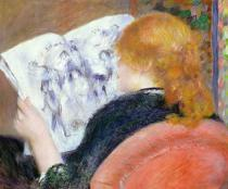 Pierre Auguste Renoir - Young Woman Reading an Illustrated Journal, c.1880-81