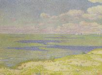 Theodore van Rysselberghe - View of the River Scheldt, 1893