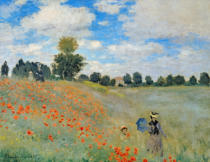Claude Monet - Wild Poppies, near Argenteuil , 1873