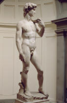 Michelangelo Buonarroti - David, sculpture by Michelangelo Buonarroti (1475-1564), 1501-4