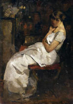 Willem de Zwart - Girl in White, c.1889