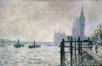 Claude Monet - The Thames below Westminster, 1871