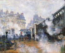 Claude Monet - The Pont de l'Europe, Gare Saint-Lazare, 1877