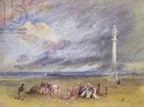 Joseph Mallord William Turner - Yarmouth Sands, c.1824-30