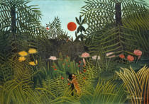 Henri J.F. Rousseau - Negro Attacked by a Jaguar, 1910