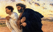 Eugene Burnand - The Disciples Peter and John Running to the Sepulchre on the Morning of the Resurrection, c.1898