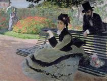 Claude Monet - Madame Monet on a Garden Bench