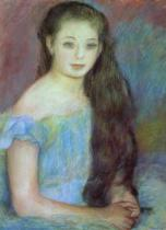 Pierre Auguste Renoir - Portrait of a young girl with blue eyes, 1887