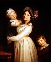 Pierre-Paul Prud'hon - Family portrait of Madame Anthony and her children, 1785