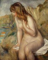 Pierre Auguste Renoir - Bather seated on a rock, 1892