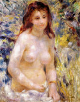 Pierre Auguste Renoir - Study. Torso, effect of sunlight, c.1875-76