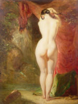 William Etty - Diana standing by a waterfall