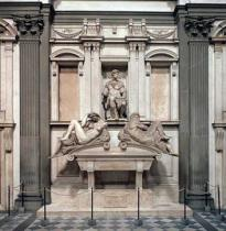 Michelangelo Buonarroti - Tomb of Giuliano de' Medici, Duke of Nemours (1479-1516) with the figures of Day and Night, 1533