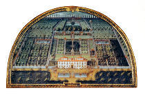 Giusto Utens - Villa di Castello from a series of lunettes depicting views of the Medici villas, 1599