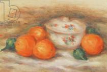 Pierre Auguste Renoir - Still life with a covered dish and Oranges