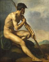 Théodore Géricault - Nude Warrior with a Spear, c.1816