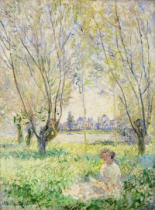 Claude Monet - Woman seated under the Willows, 1880