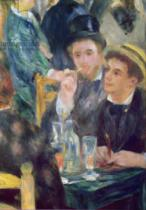 Pierre Auguste Renoir - Ball at the Moulin de la Galette, detail of two seated men, 1876