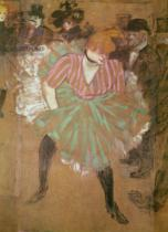 Henri de Toulouse-Lautrec - Panneaux pour la baraque de la Goulue, é la foire du Tréne é Paris. The Dance at the Moulin-Rouge: la Goulue , 1895
