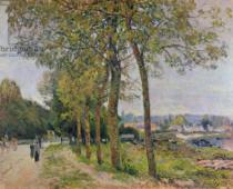 Alfred Sisley - The Seine at Marly, 1876